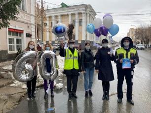 В Вольске прошла акция акцию для водителей и пешеходов «108 добрых дел»